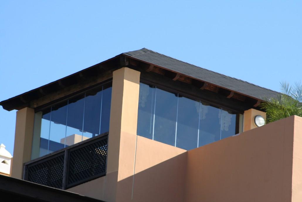 ático cortinas de cristal valdebebas
