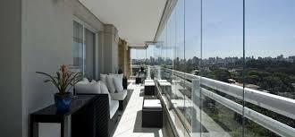 cortina de cristal en terraza